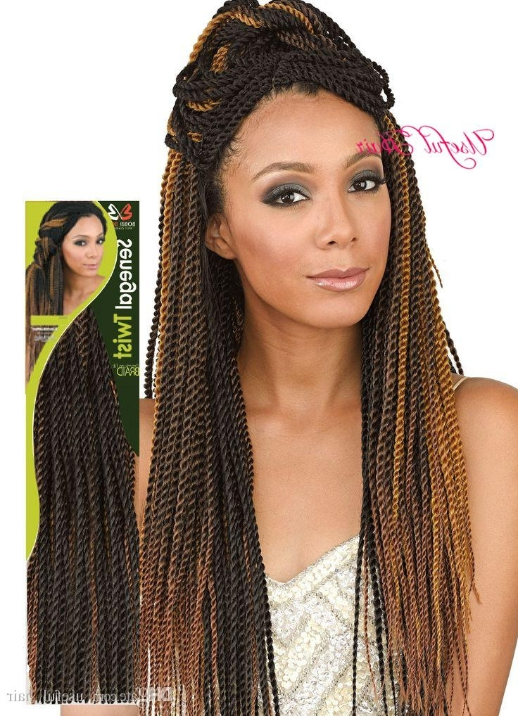 Marley Ombre Blonde 18 Senegalese Twist Crochet Braids Hair =Head With Regard To Blonde Braided And Twisted Ponytails (View 22 of 25)