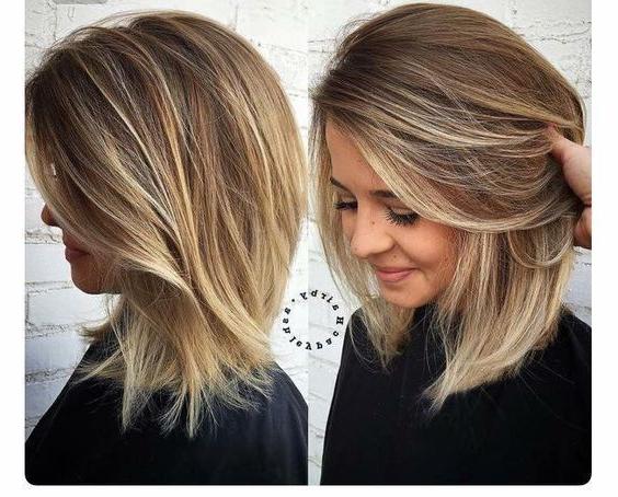 Medium Haircuts For Thick Hair – Leymatson Regarding Layered Haircuts For Thick Hair (View 21 of 25)