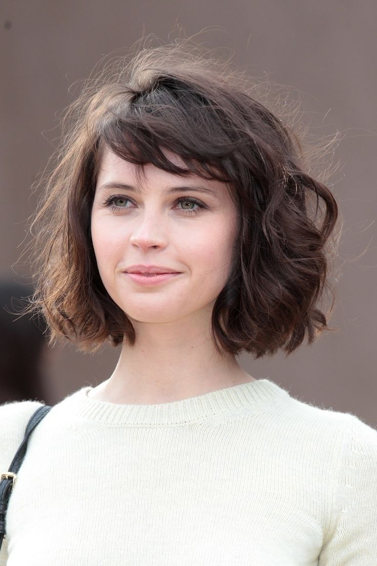 Medium Hairstyles With Short Bangs 12 Feminine Short Hairstyles For Pertaining To Layered Haircuts For Short Curly Hair (View 9 of 25)