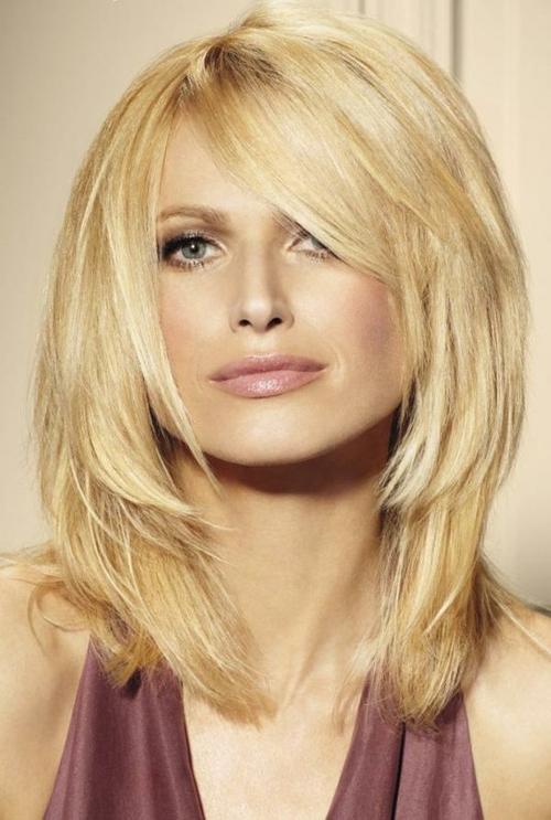 Medium Layered Hairstyles With Bangs Pertaining To Short To Medium Feminine Layered Haircuts (View 6 of 25)