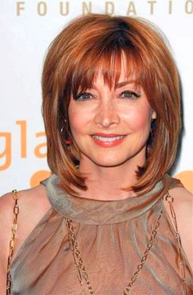 Medium Length Hairstyles For Women Over 60 | Bangs | Pinterest Pertaining To Short To Medium Hairstyles With Bangs (View 16 of 25)