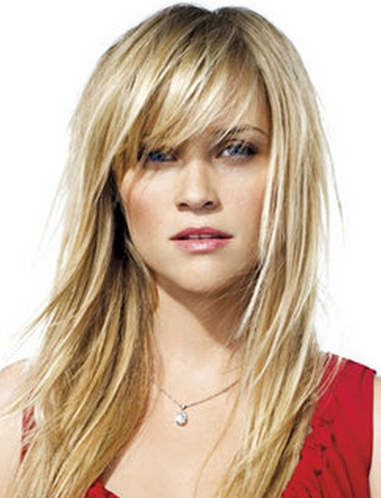 Medium Length Hairstyles With Side Bangs | Cute Medium Hairstyles Inside Short To Medium Hairstyles With Bangs (View 19 of 25)