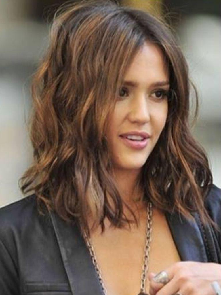 Melena Midi   Hair   Pinterest   Hair, Hair Trends And Hair Styles Inside Jessica Alba Short Haircuts (View 7 of 25)