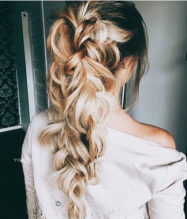 Messy Braid Ponytail Hairstyle | Hairstyle | Pinterest | Braided With Messy Braid Ponytail Hairstyles (View 16 of 25)