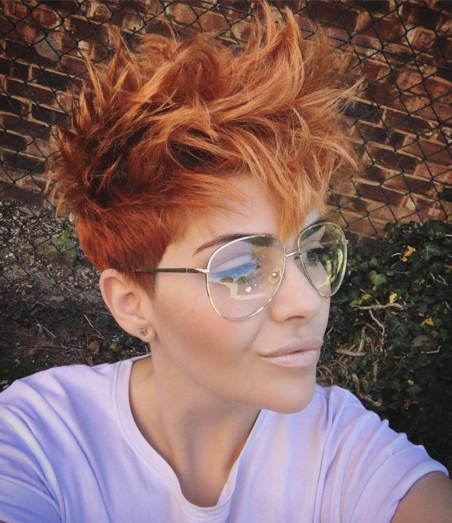 Messy Brown Pixie Cut | Hair In 2018 | Pinterest | Hair, Short Hair Throughout Messy Sassy Long Pixie Haircuts (View 8 of 25)
