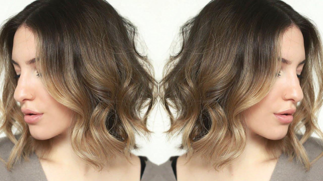 Messy + Effortless Waves | Short Hair Tutorial | Jamiepaigebeauty Pertaining To Loosely Waved Messy Brunette Bob Hairstyles (View 16 of 25)