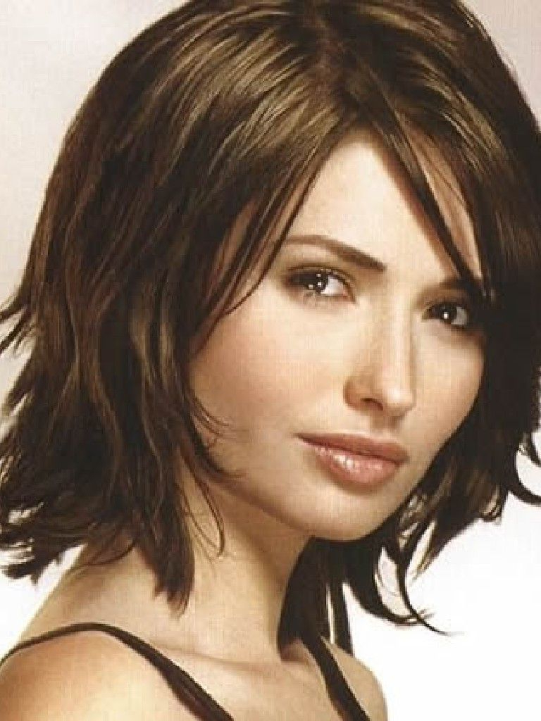 Mid Length Hairstyles Ideas For Women's   Hair Styles   Pinterest with Short To Medium Hairstyles For Thick Hair