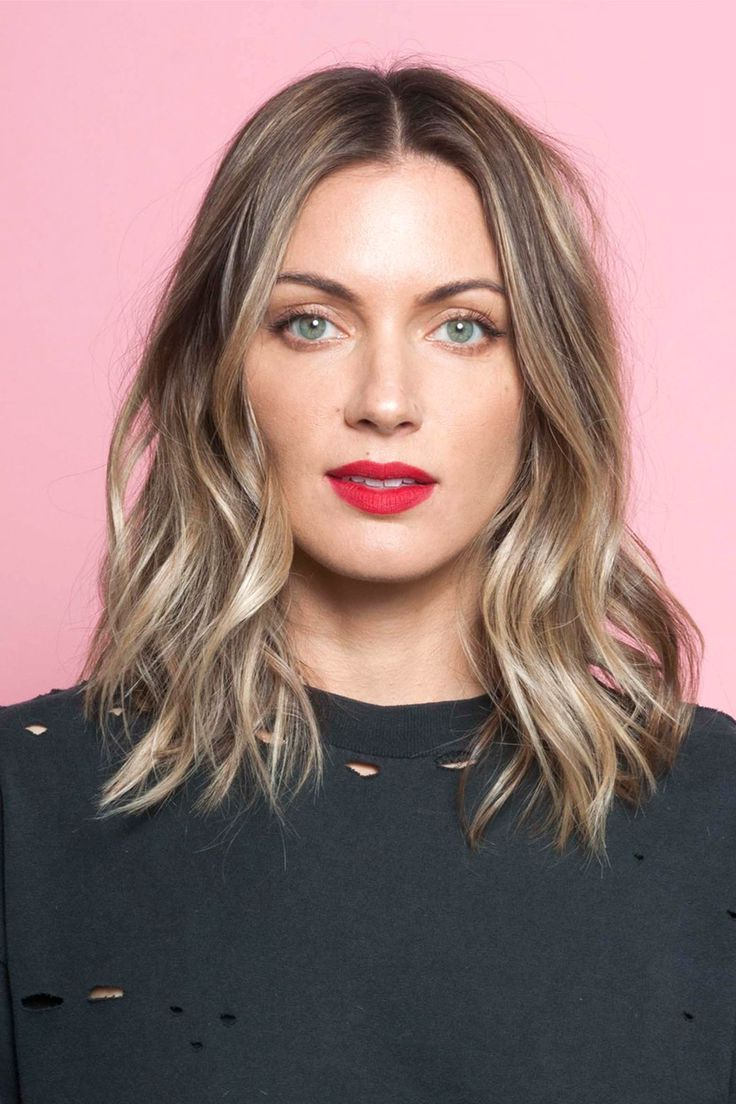Middle Part Short Layers Medium Length - Google Search | Hair Hair throughout Center Part Short Hairstyles