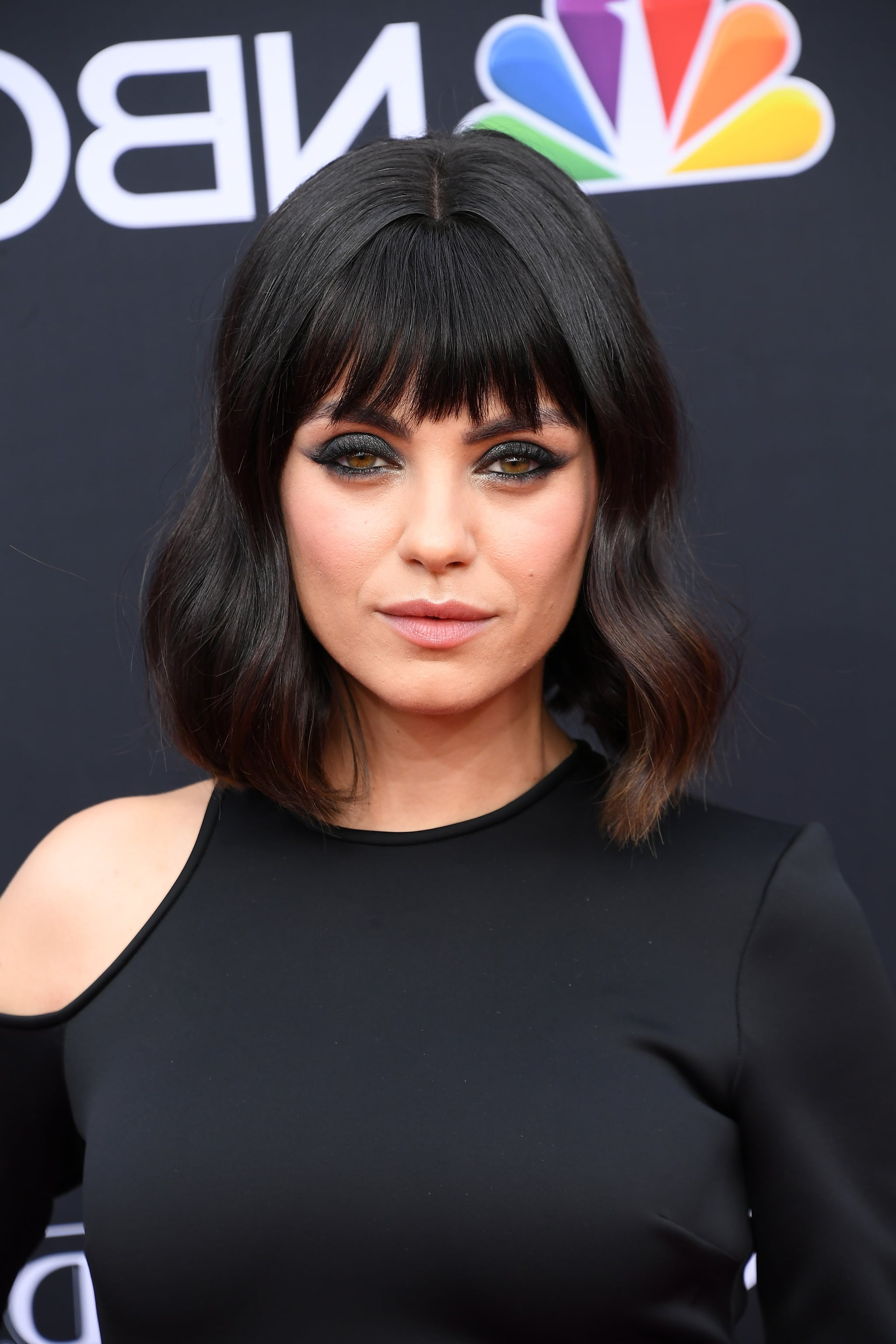 Mila Kunis With Bangs At The Billboard Music Awards 2018   Popsugar For Mila Kunis Short Hairstyles (View 18 of 25)