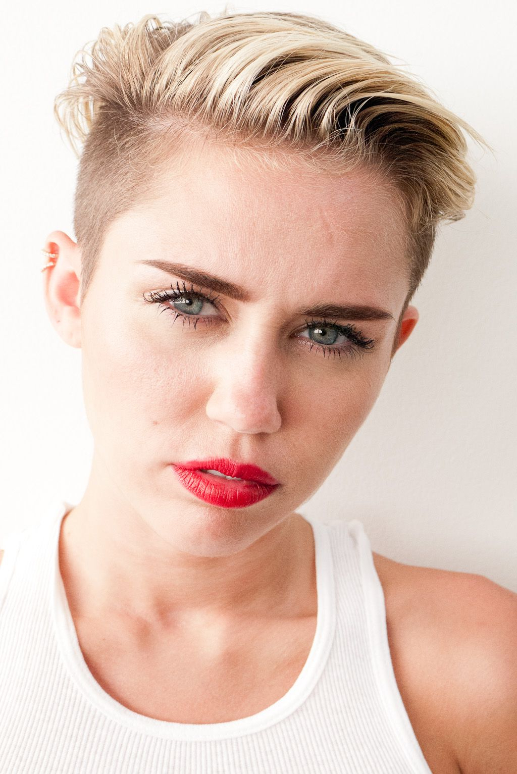 Miley Cyrus In Paris & Terry Richardson Photoshoot | Photoshoot Within Miley Cyrus Short Hairstyles (View 18 of 25)