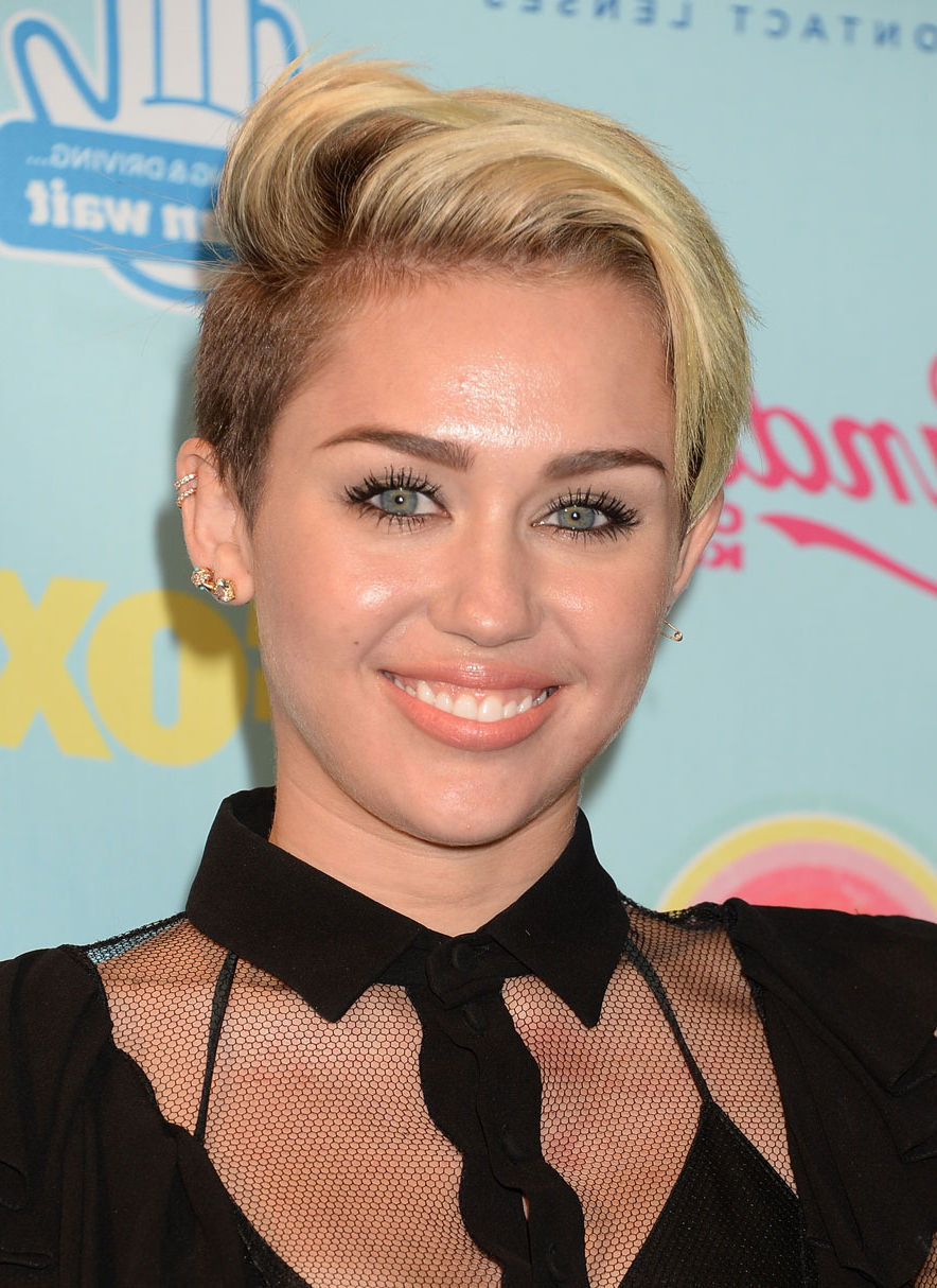 Miley Cyrus Is Already Sick Of Her Short Hair | Stylecaster Throughout Miley Cyrus Short Hairstyles (View 13 of 25)