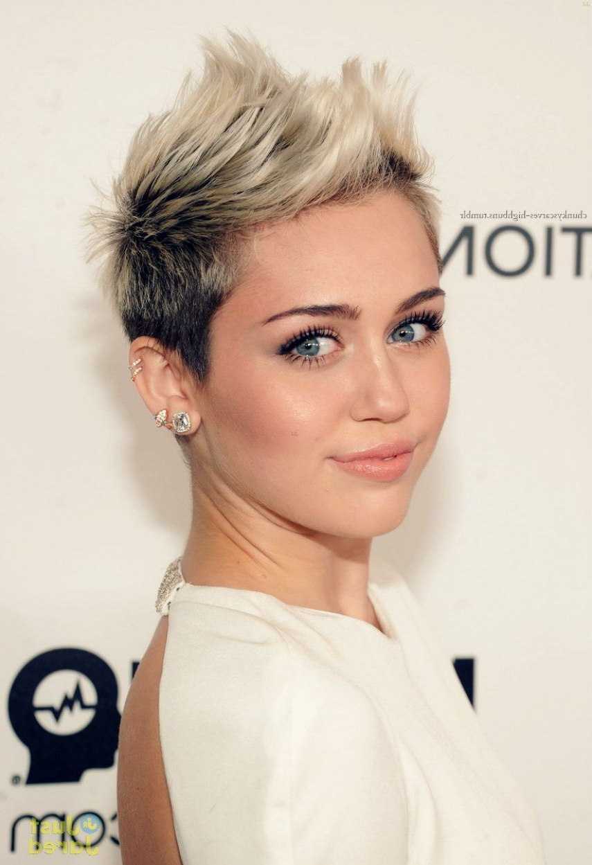 Miley Cyrus Short Hair Women's Blonde Brunette   H A I R L O V I N Within Short Haircuts Like Miley Cyrus (View 5 of 25)