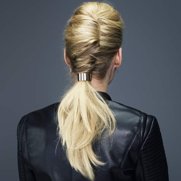 Modern French Twist & Embellished Ponytail Styling How To Step By Pertaining To Twisted And Pinned Blonde Ponytails (View 14 of 25)