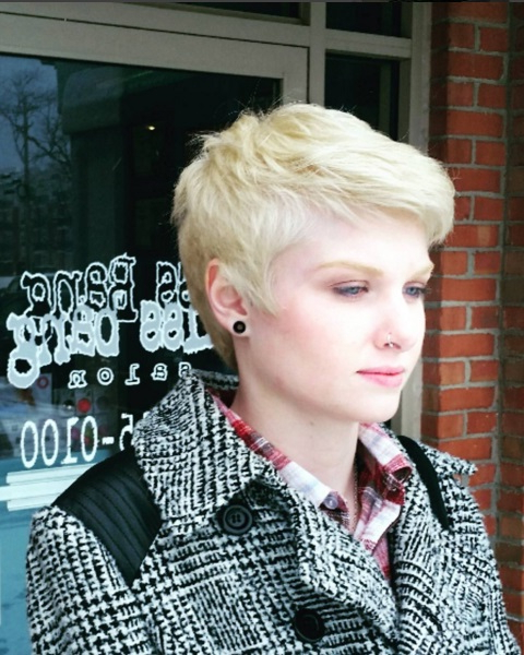 Modern Short Pixie Haircuts 2016 | Cinefog Throughout Long Messy Ash Blonde Pixie Haircuts (View 17 of 25)