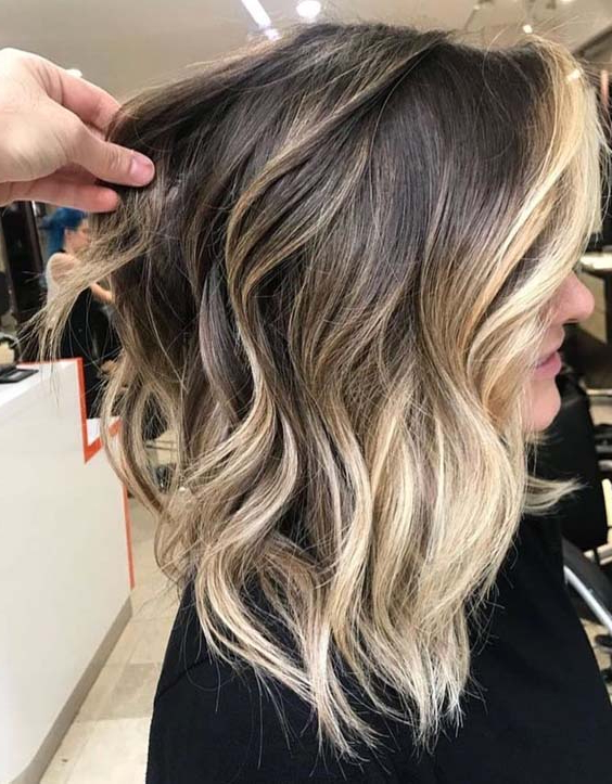Modeshack » Blog Archive » High Contrast Balayage Ombre Highlights For High Contrast Blonde Balayage Bob Hairstyles (View 21 of 25)