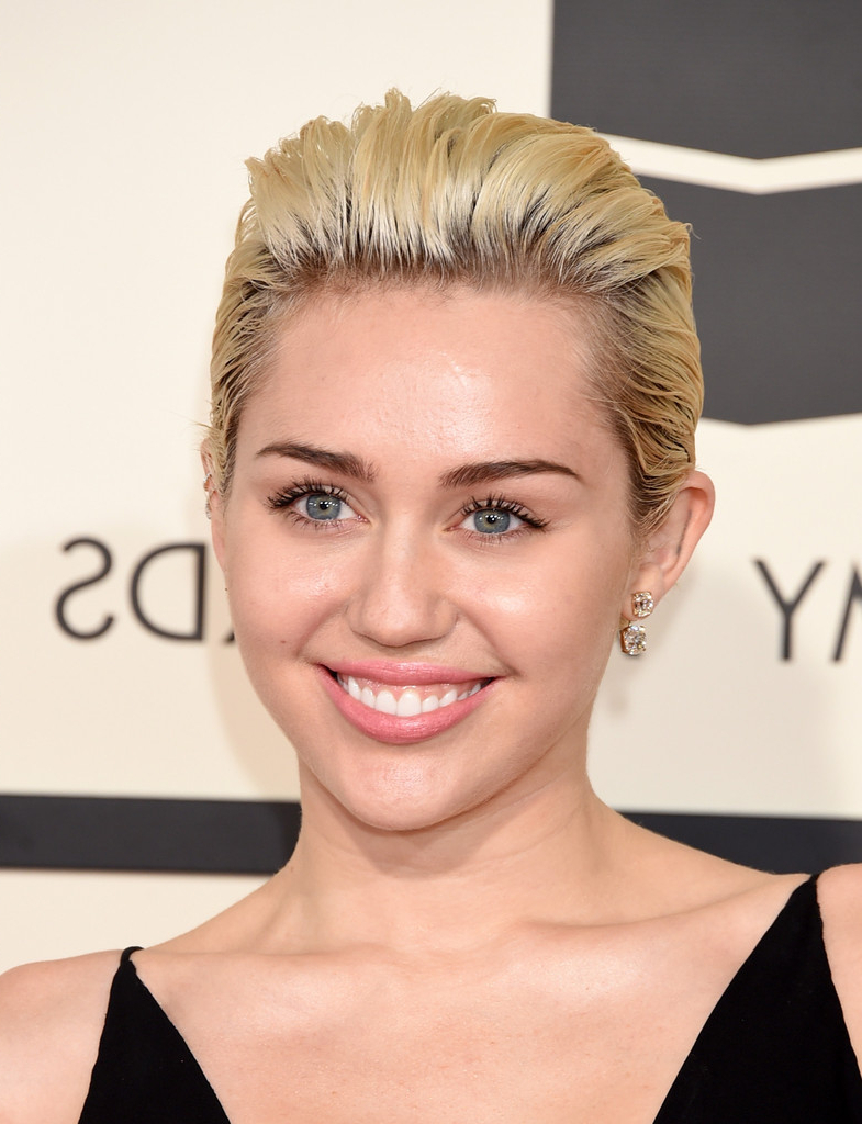More Pics Of Miley Cyrus Short Straight Cut (42 Of 62) – Short With Regard To Miley Cyrus Short Hairstyles (View 10 of 25)
