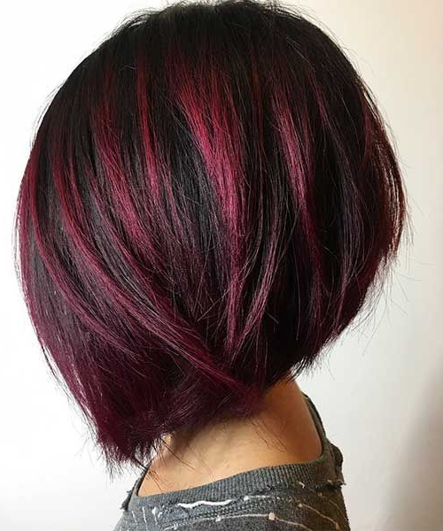 Most Beloved 25+ Bob Hairstyles For 2017 | Hair | Pinterest | Hair Inside Stacked Black Bobhairstyles  With Cherry Balayage (View 3 of 25)