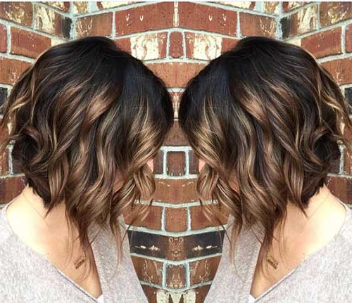 Most Beloved Brunette Bob Hairstyles For Ladies – Love This Hair Inside Inverted Brunette Bob Hairstyles With Feathered Highlights (View 19 of 25)
