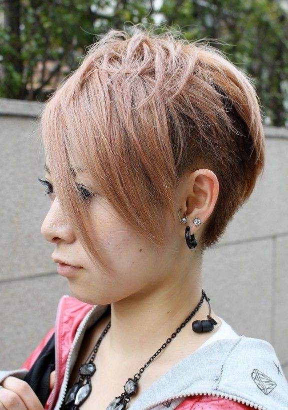 Most Popular Asian Hairstyles For Short Hair – Popular Haircuts Within Highlighted Pixie Bob Hairstyles With Long Bangs (View 21 of 25)