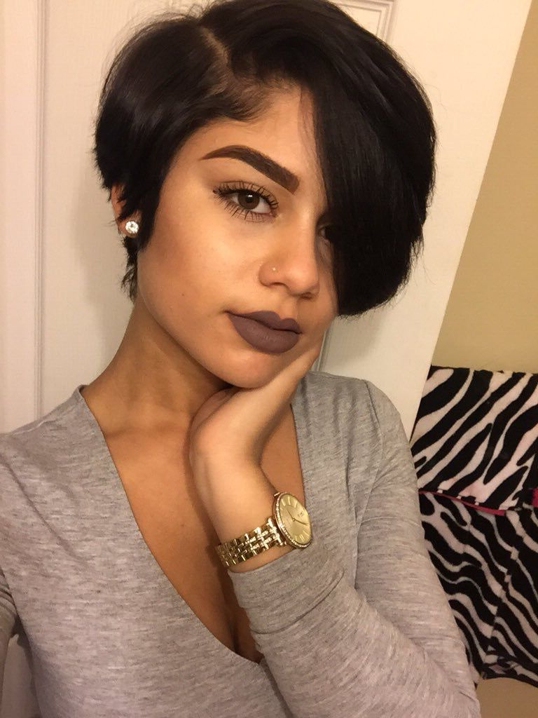 My Pins Be Lit Sis Follow Ya Girl @celestenikkole? | Cute Intended For Cute Short Hairstyles For Black Women (View 12 of 25)