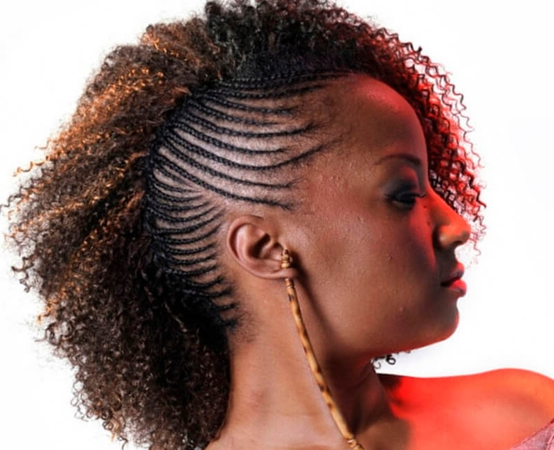 Natural Hairstyles For African American Women And Girls Throughout Black Curly Ponytails With Headband Braid (View 23 of 25)