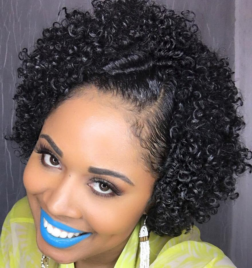 Natural Short Hairstyles - Leymatson for Short Haircuts For Curly Black Hair
