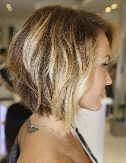 Neck-Length Layered Bob | Hair | Pinterest | Hair, Hair Styles And throughout Voluminous Nape-Length Inverted Bob Hairstyles