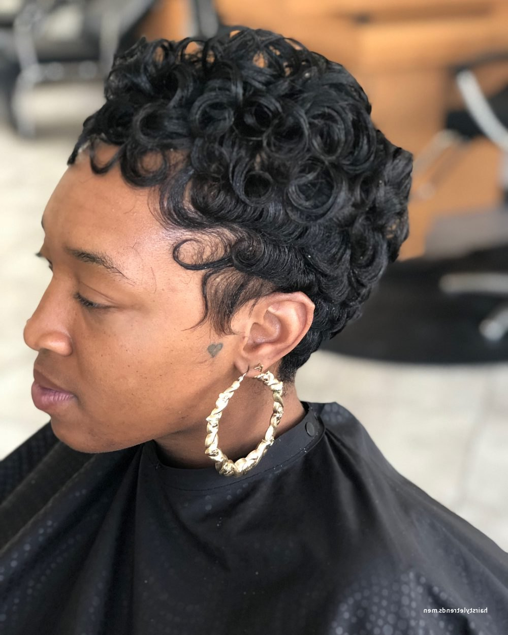 New African American Short Hairstyles For Round Faces • Hairstyletrends throughout Natural Short Hairstyles For Round Faces