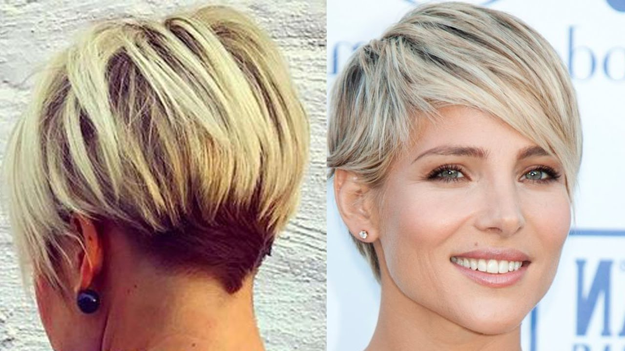 New Blonde Short Haircuts - Modern Short Cut (Blonde Hair Women in Short Haircuts For Blondes With Thin Hair