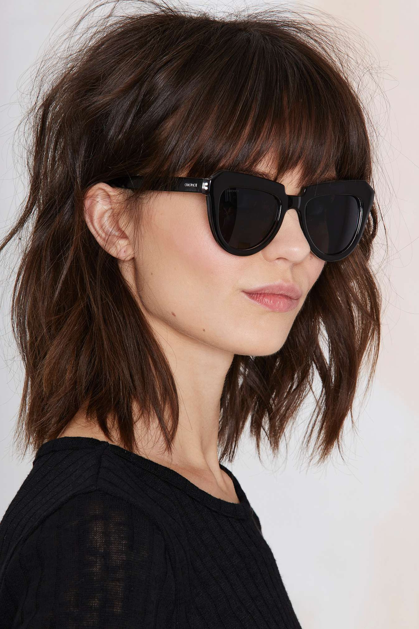 Nice Haircut Mystery Lady- Perfect Because It Shows It With Glasses throughout Short Haircuts With Bangs And Glasses