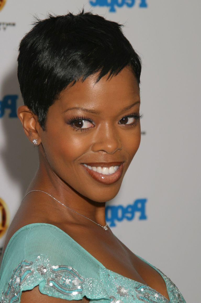 Of Short Hairstyles For Black Hair Ideas Of Short Haircuts For Black Intended For African American Short Haircuts For Round Faces (View 22 of 25)