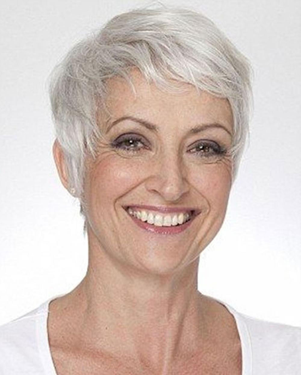 Older Women Short Haircut Gray Hair Color – Hairstyles for Short Hairstyles For Women With Gray Hair