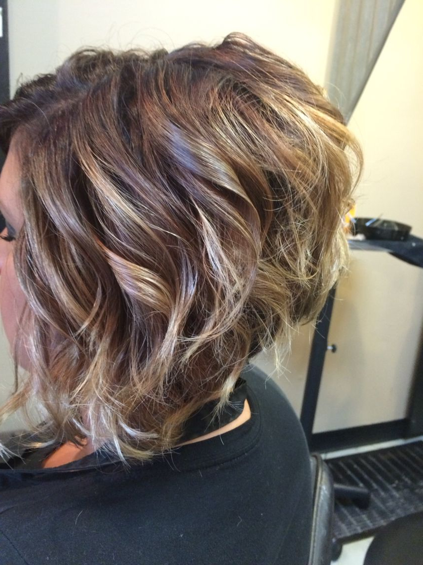 Ombre On Short Hair-Stacked Bob Haircut | Hair | Pinterest | Stacked within Stacked Curly Bob Hairstyles