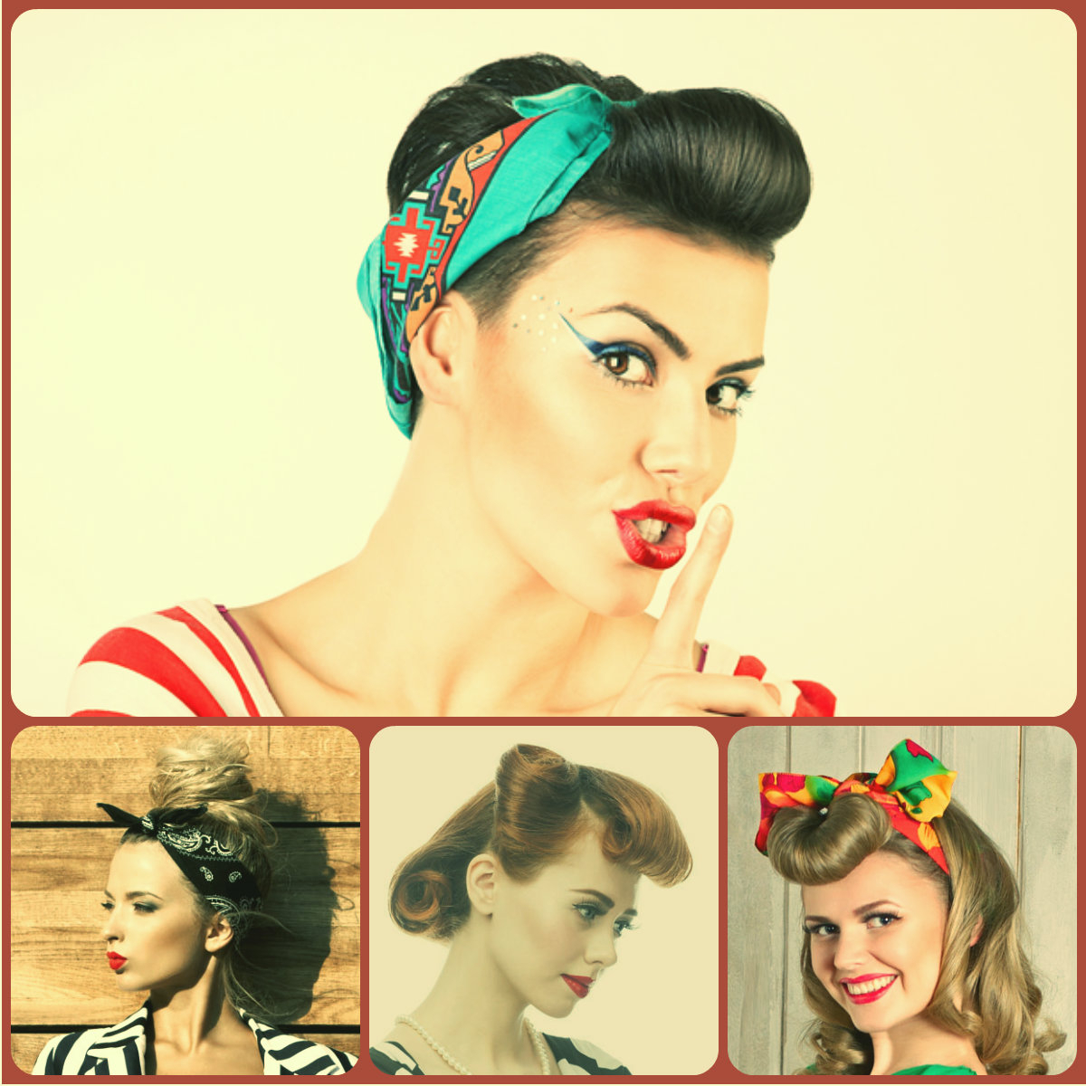 On-Trend Vintage Hairstyles 2015 Spring | Hairstyles 2017, Hair for Short Hairstyles With Bandanas