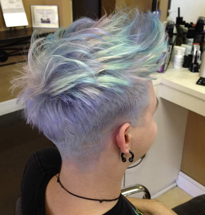 Opal In 2018 | Hair | Pinterest | Hair, Hair Styles And Short Hair Pertaining To Edgy Purple Tinted Pixie Haircuts (View 24 of 25)