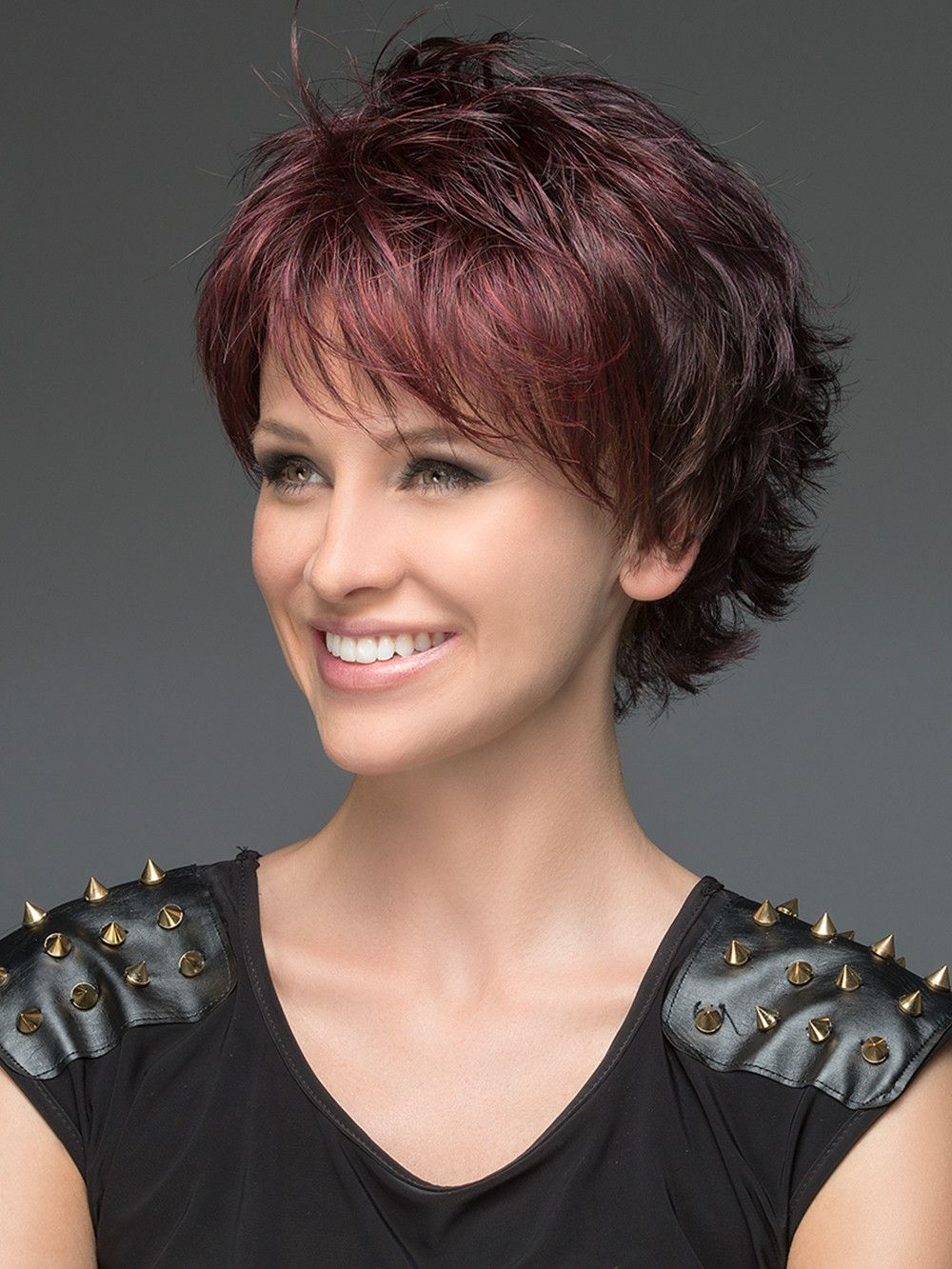 Open | Synthetic Wig (Mono Crown) | Hair | Pinterest | Hair Styles in Layered Short Hairstyles With Bangs
