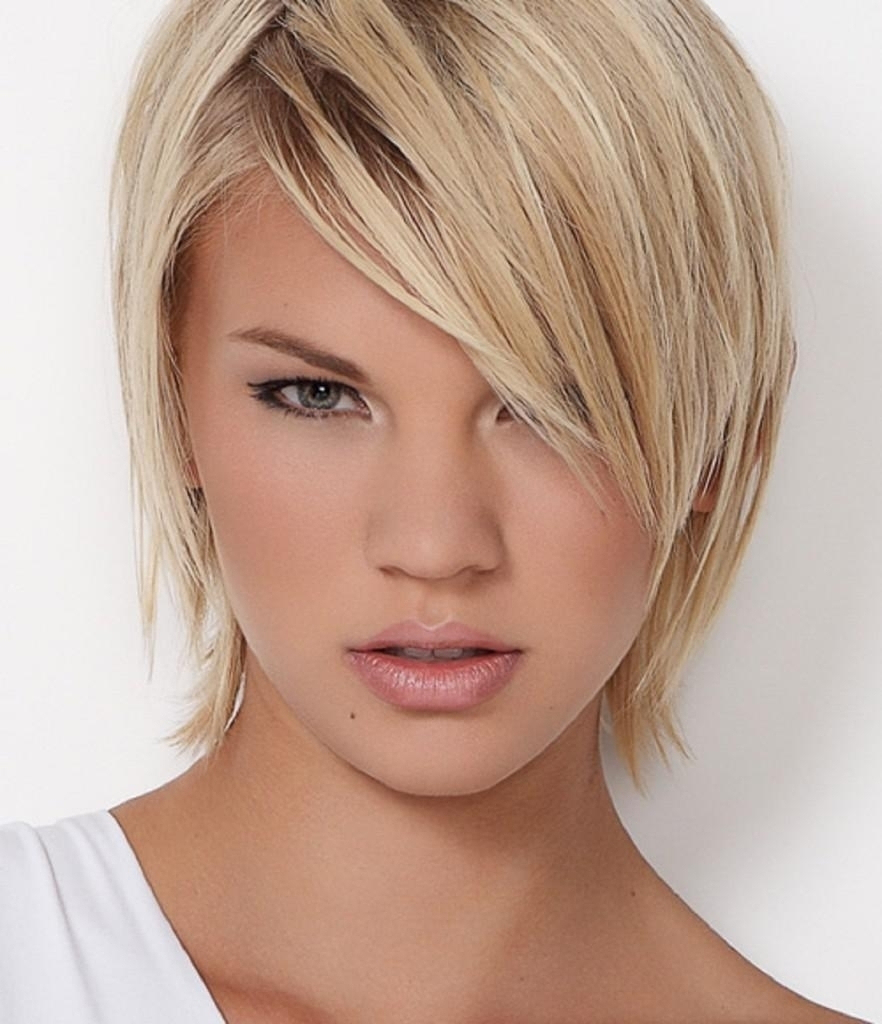 Oval Face Thin Hair Short Haircut Haircuts For Fine Hair And Long pertaining to Short Hairstyles For Fine Hair And Long Face