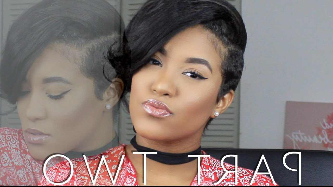 Partial Sew In Weave For Short Hair? – Youtube Throughout Short Haircuts With One Side Shaved (View 15 of 25)