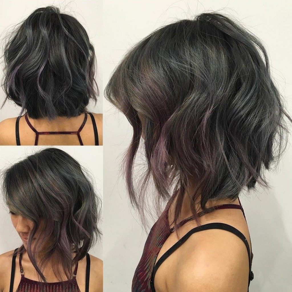 Photos Of Angled Bob Hairstyles For Wavy Hair Menshairstyletrends With Curly Angled Bob Hairstyles (View 15 of 25)