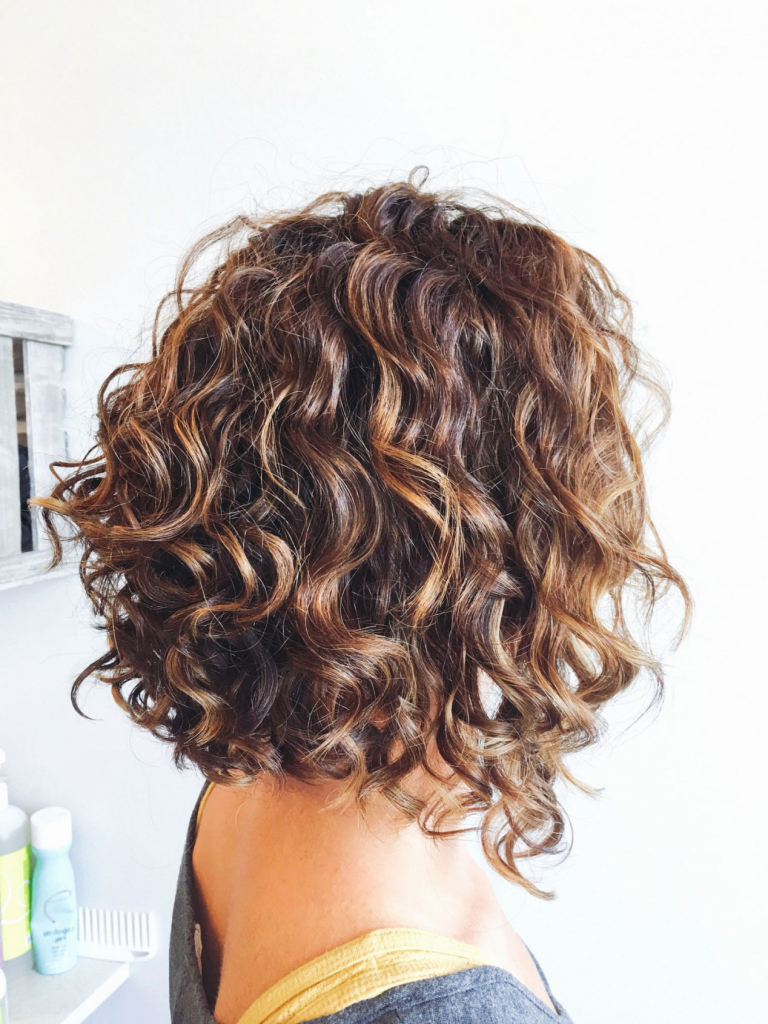 Photos Of Curly Stacked Bob Hairstyles Menshairstyletrends (View 8 of 25)