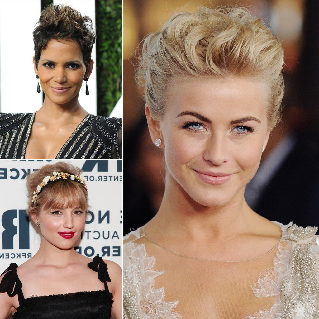 Pictures Of Wedding Hairstyles For Short Hair | Popsugar Beauty Within Hairstyles For Brides With Short Hair (View 5 of 25)