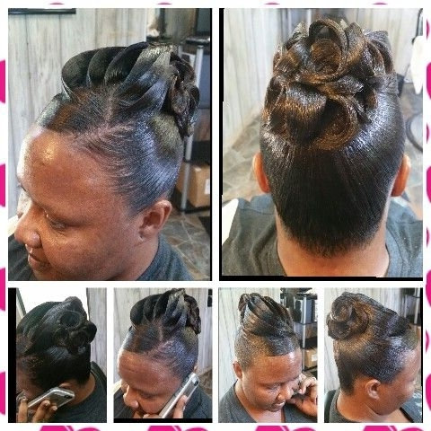 Pin Curl Updo #frenchtwistupdo | Hair Styles | Pinterest | Hair In Sculpted And Constructed Black Ponytail Hairstyles (View 13 of 25)