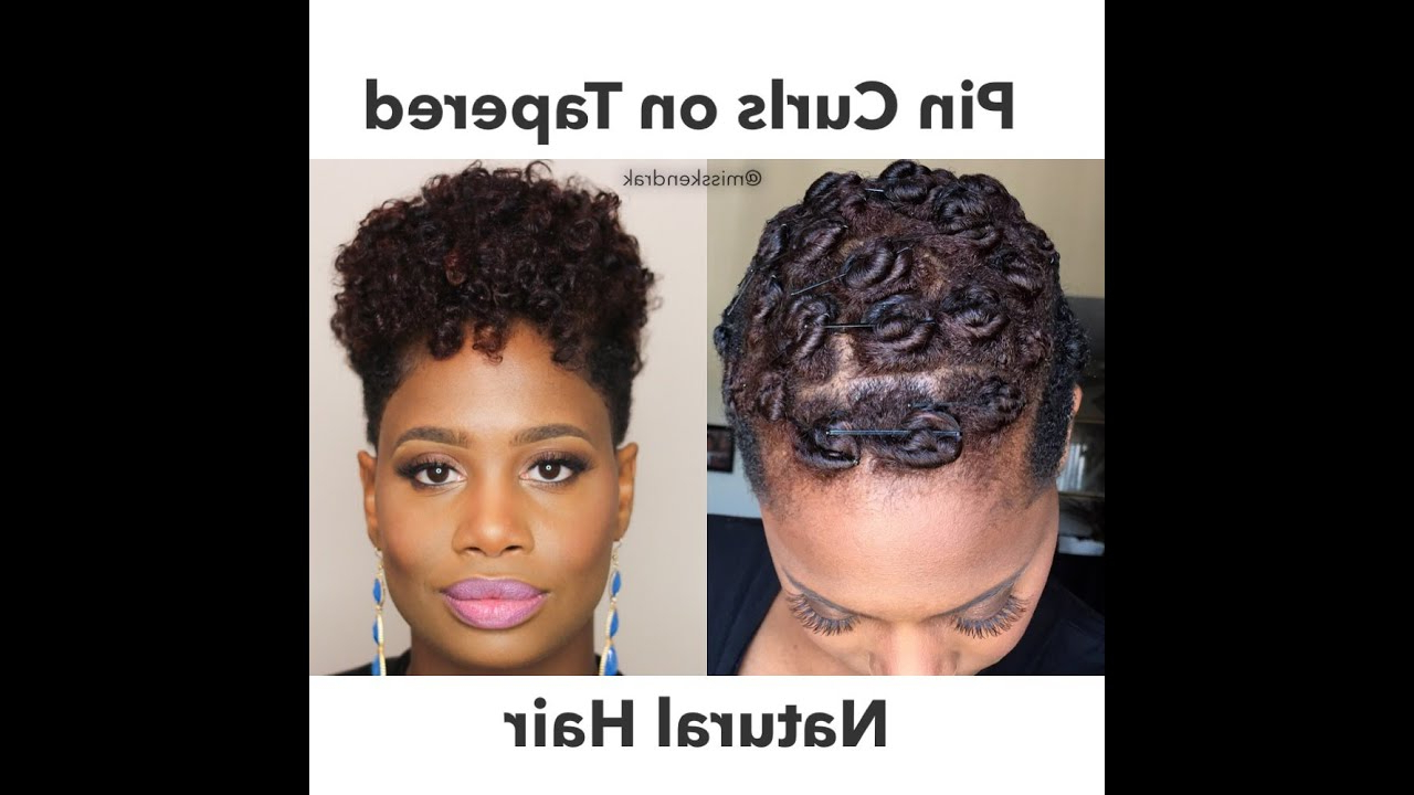 Pin Curls On Tapered Natural Hair | 2 Methods – Youtube With Regard To Curly Black Tapered Pixie Hairstyles (View 8 of 25)