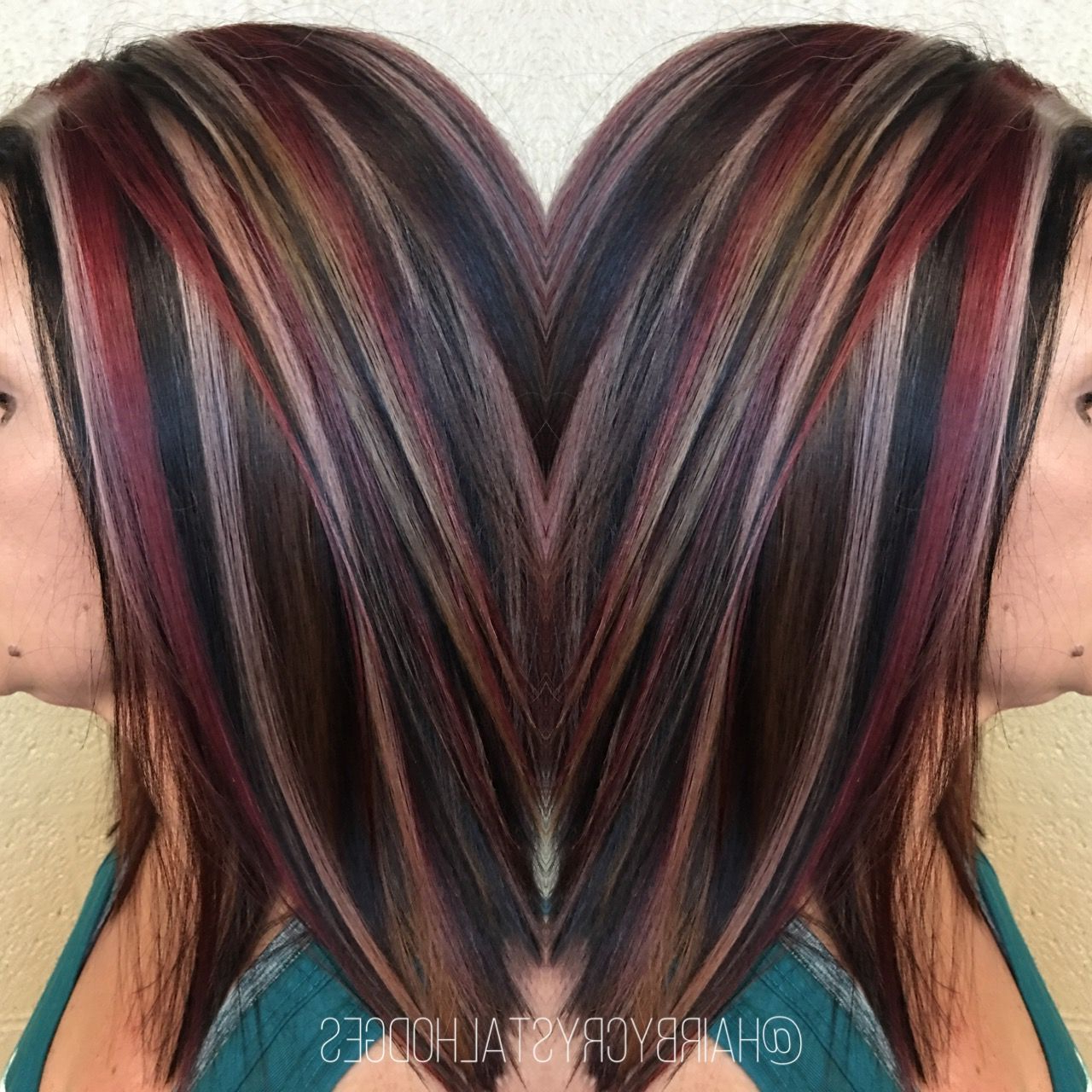 Pinadriana Mckenzi On Short Hairstyles In 2018 | Pinterest Pertaining To Short Haircuts With Red And Blonde Highlights (View 3 of 25)