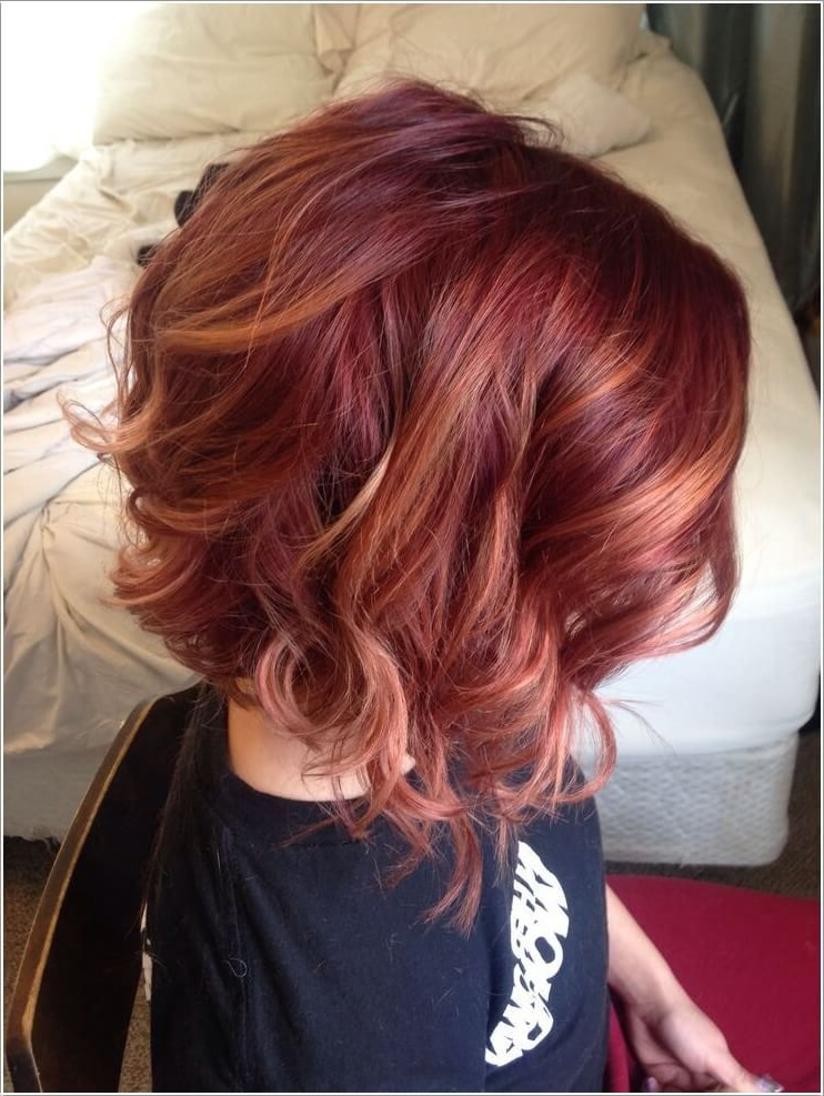 Pinaurora Lujan On Hair Styles & Color In 2018 | Pinterest With Burgundy And Tangerine Piecey Bob Hairstyles (View 3 of 25)