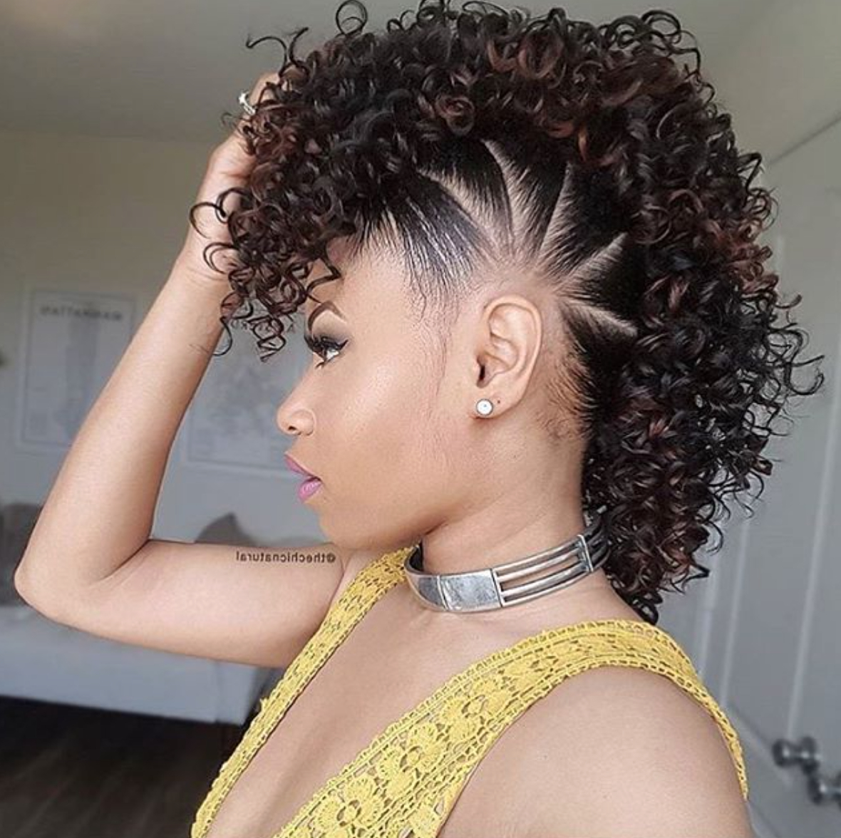 Pinbritt Lee On Hair In 2018 | Pinterest | Hair Styles, Natural With Mohawk Short Hairstyles For Black Women (View 17 of 25)