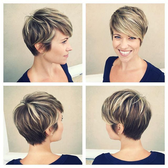 Pindavid Connelly On Highlighted, Streaked, Foiled & Frosted Intended For Highlighted Pixie Bob Hairstyles With Long Bangs (View 8 of 25)