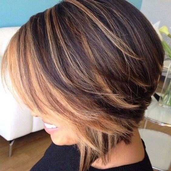 Pinheather Jordan On Beauty In 2018   Pinterest   Hair, Hair Regarding Straight Cut Bob Hairstyles With Layers And Subtle Highlights (View 6 of 25)