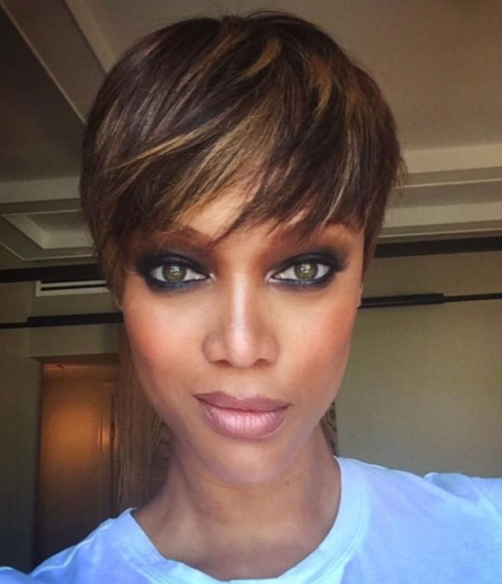 Pinhollywood Physics Diva On Diane's Hair Thoughts | Pinterest Within Tyra Banks Short Hairstyles (View 13 of 25)