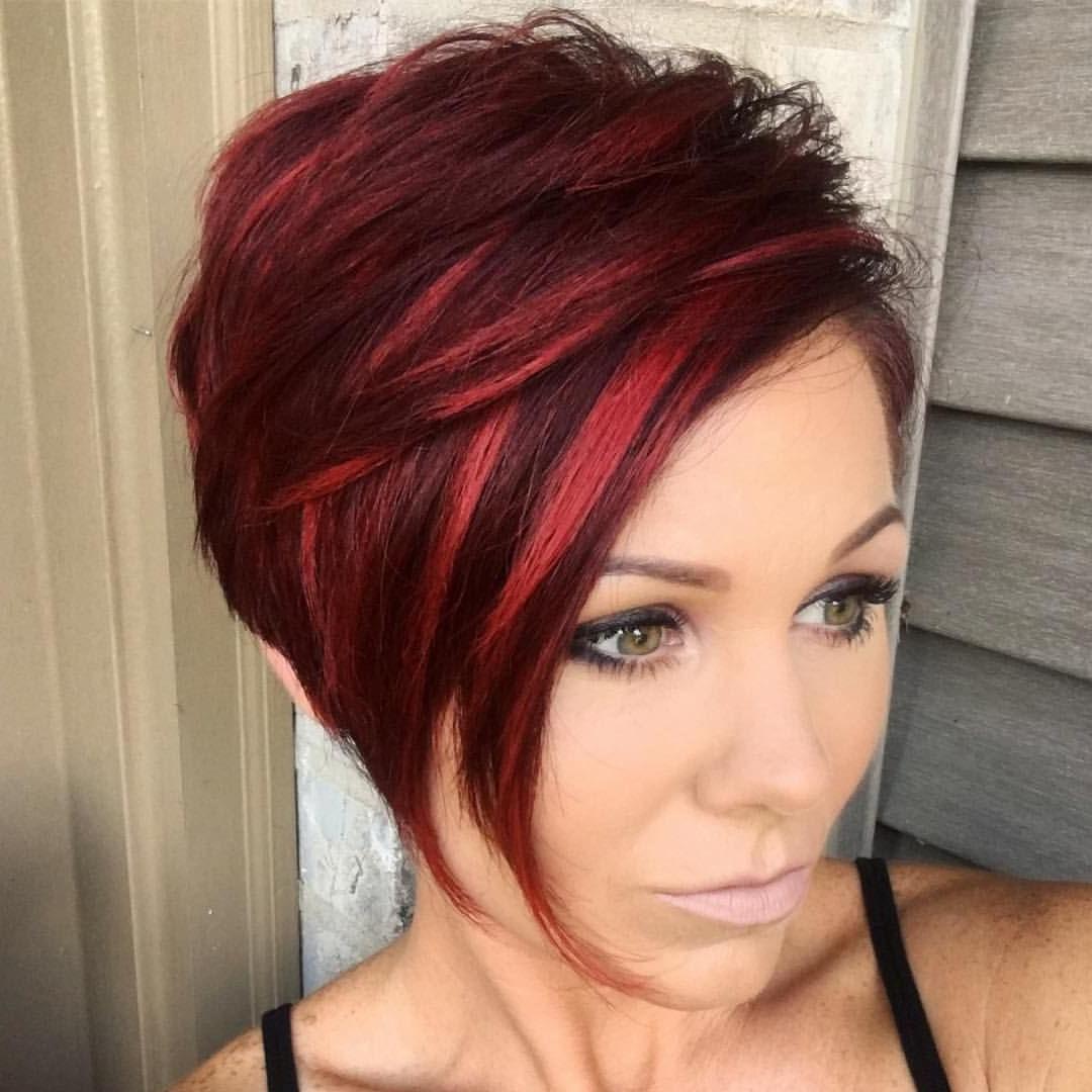 Pinjanelle Stokes On Short Layered Bobs | Pinterest | Hair, Hair inside Red Short Hairstyles